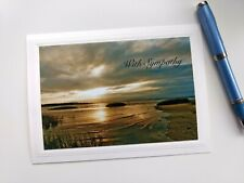 'With Sympathy'  Blank Sympathy Note Card w/Envelope 🌻💕 Artist is Seller