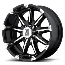 20 Inch Black Silver Wheels Rims Jeep Wrangler JK 5x5 XD Series Badland SINGLE 1