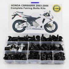 Motorcycle Fairing Bolt Kit Bodywork Screws For Honda CBR600RR 2003-2006 Black