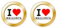 Kfz-Aufkleber I love Mallorca Set KA