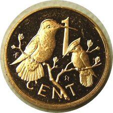 elf British Virgin Islands 1 Cent 1973 Humming  Bird Proof  Gilroy Roberts