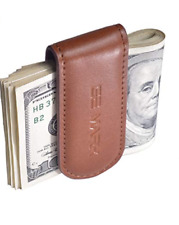 Leather Money Clip Cash Card Holder Strong Magnets Holds 30 banknotes