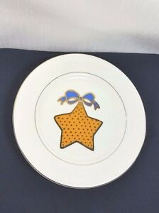 Christmas Holiday Dessert Plate (s) Tienshan Classic Gold Ornaments Buy One