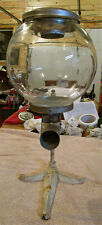"""Vintage Very Rare 1915 Country Store Glass Candy* Dispenser Machine 19 1/2"""" T."""
