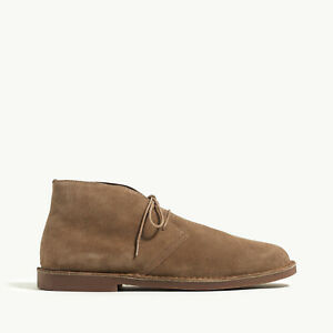 J Crew Suede Desert Boots Chukka Taupe Size 8 New with Box