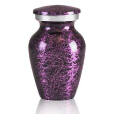 Small/Keepsake 4 Cubic Inches Purple Brass Funeral Cremation Urn for Ashes