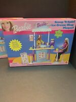 Vintage 2000 Barbie Scoop 'N Swirl Ice Cream Shop Playset - NIB