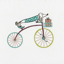 Dachshund Dog Bicycle Present Blank Note Cards 8 Notecards 8 Envelopes