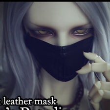 "Black Leather Mini masks Prop  for 1/3 24"" BJD SD SD17 dz dk dollfie volks"