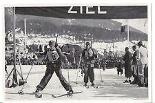 WWII GERMAN- Large 1936 OLYMPIC Sports Photo Image- Ski- German Military Patrol
