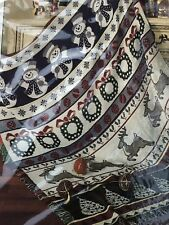 "American Weavers Double Woven Jacquard Throw Christmas Stripes Sz 50""x 60""  BN"