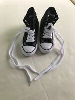 AirWalk Kids High Top Sneakers Black New Without Box Size 11 1/2 Canvas tie lace