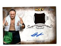 WWE Samoa Joe 2016 Topps Undisputed Bronze Autograph Relic Card SN 84 of 99
