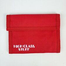 80's Vintage Designer Nylon High Class Stuff Wallet Bifold Hook & Loop Red NOS