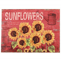 Sunflowers Tin Sign Retro Vintage Country Shop Office Home Kitchen Decor Gift US