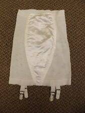 NEW Vtg 1950s Rubber Knit Satin Panel Open Bottom Girdle Garter Belt Shaper Sz S