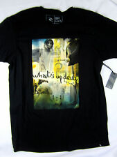 Rip Curl Surf What's Up Dawg soft short sleeve t shirt men's black size LARGE