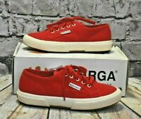 Kids Superga Red Lace Fastening Trainers UK 1 EUR 33 RRP - £25
