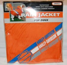 NEW Genuine Harley Davidson Waterproof Rain Jacket & Hood For Small Dogs