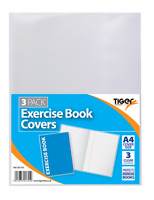 Exercise Book Covers Clear Plastic Protective Cover School College Notebook Care