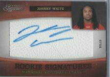 2011 Panini Johnny White Rookie Auto on a pcs of Leather SP439/463 BILLS