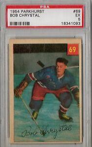 1954 Parkhurst Bob Chrystal #69 PSA 5 P842