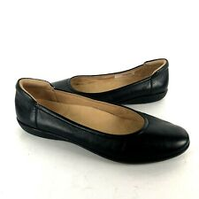 Naturalizer 9.5 M Flexy Ballet flats black leather comfort slip on cushioned hee