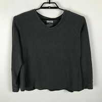 Duluth Trading Co Thermal Shirt Size XL Gray V-Neck Long Sleeve Mens Solid