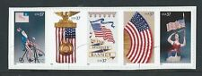 UNITED STATES 2003  OLD GLORY STRIP OF 5 FINE USED