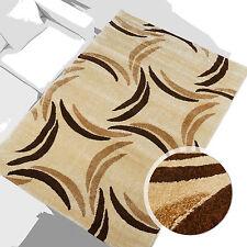 % Sale Teppich Modern Design Läufer Mono Kreise Beige Braun 80x150 cm