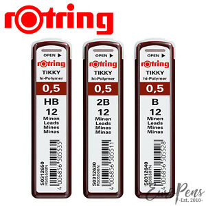 Rotring Tikky - Lead Refills - Hi-Polymer - 0.5mm - Leads for Mechanical Pencils