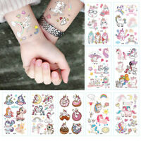 Girls Unicorn Temporary Tattoos Children's Birthday Party Bag Fillers Waterproof