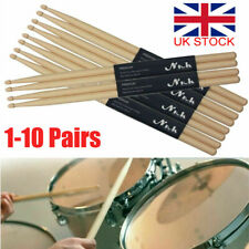 More details for 1-10 pair drum sticks high quality maple wood tip 5a drumsticks percussion stick