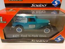 Vintage 1/43 Solido - Ford N- York times Delivery Truck Diecast Model #4431