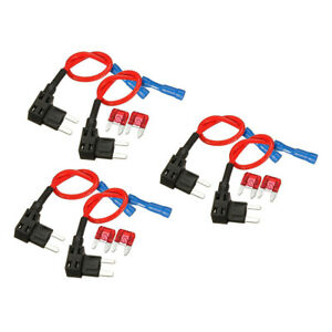 6Pcs Add-a-circuit Circuit Fuse Tap ATS Low Profile Plug Blade Fuse for Auto