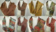 10 WHOLESALE LOT  INDIA BEADED SCARF SILK JACQUARD NECK SCARF PASILEY :SET OF 10