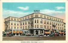 North Carolina, NC, High Point, Elwood Hotel 1920's Postcard