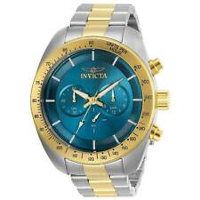 Reloj Para hombres Invicta Speedway Cronógrafo Esfera Azul Pulsera dos tonos 30035