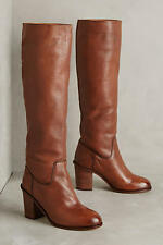 New ANTHROPOLOGIE Lien Do Castor Boots $278 Whiskey Brown Seychelles Size 7