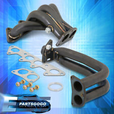 For 94-97 Honda Accord F22 2.2L l4 Stainless Steel Exhaust Headers Manifold Blk