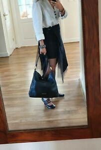 Michael Kors L black leather Slouch Hobo Shoulder Tote dust Bag Handbag Brill Co