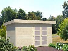 Palmako Gartenhaus Lara 8,4 m² Holz 28 mm 350x250 cm Flachdach Blockhaus Laube