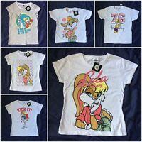 Official Genuine Looney Tunes Lola Bunny Bugs Bunny T-shirt Tee Girls Kids