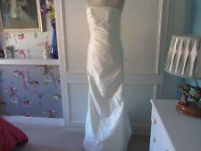 Ivory taffeta mermaid wedding dress lace up 8