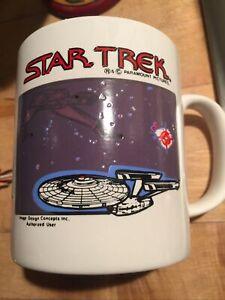 Star Trek Mug Vintage,PARAMOUNT PICTURES MOVIE ADVERTISING MUG KILNCRAFT ENGLAND