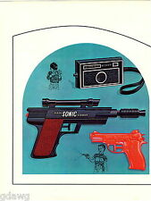 1966 ADVERT 4 PG Eldon Toy Play Guns Pistols Sonic Silencer Camera Water Darts