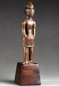 Art Africain Ancien Collection Parisienne TABWA Congo RDC 15,5cm + Socle Pro.