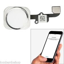 TOUCHE CENTRAL HOME BOUTON COMPLET FLAT FLEX EMPREINTE POUR IPHONE 6/6PLUS BLANC
