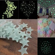100 Pcs Glow In The Dark Star Moon Wall Ceiling Toy Kids Room Nursery Decor Pack