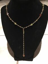 Park Lane Necklace Gold Tone With Earth-toned Beads